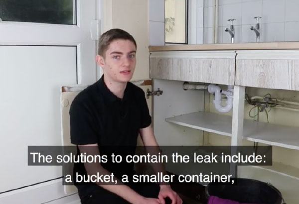 How to contain a water leak